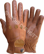 TOP QUALITY SOFT COMFORT  LEATHER MENS CHAUFFEUR DRIVING GLOVES