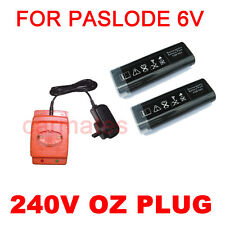 2 Batteries For STEKOL WSQ3490 Cordless gas framing nail gun 6V Ni-Cd charger OZ