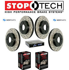 NEW Mazda 6 Front and Rear StopTech Drilled Slotted Brake Rotors Sport Pads Kit