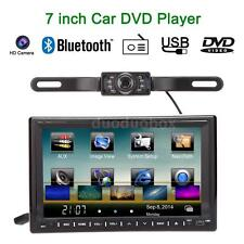 "2 DIN 7"" HD Car DVD Player GPS Nav Bluetooth Radio USB/SD WIFI 3G + Camera Q1W6"