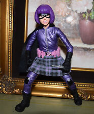 "Mezco 9"" HIT GIRL ACTION FIGURE Hot 1:6 scale Toys Kick-Ass Movie Purple Hair"