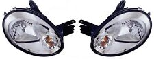 2003 2004 2005 DODGE NEON HEAD LAMP LIGHT W/CHROME BEZEL SET RIGHT & LEFT PAIR
