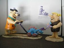HANNA-Barbera THE FLINTSTONES FRED & BARNEY Lmt EDITION MAQUETTE SET STATUE TOY