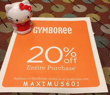 Gymboree 20% Off Entire Purchase Expires 9/06/16