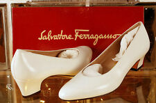 Salvatore Ferragamo SNELLA White CALF Womens Shoes NEW Size 6.5B 6 1/2B
