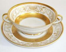"Opulent Rosenthal ""Aida Pattern 3029"" German Porcelain Soup Coupe and Stand."