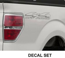 4x4 Off Road Truck Bed Decals, Silver (Set) for Ford F-150 and Super Duty