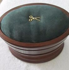 Vintage Bombay Company  Wooden Three Tier Swivel Pin Cushion Sewing Jewelry Box