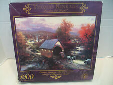 Thomas Kinkade Ceaco #3310-7 Bridge At Thomaston Brook Puzzle NIB 1996!