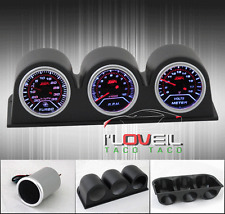 TURBO BOOST + TACHOMETER + VOLTAGE METER GAUGES + DASH SET POD HOLDERS CASE JDM