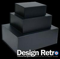 BLACK GIFT BOXES, BLACK MAGNETIC GIFT BOXES IDEAL KEEPSAKE OR HAMPER BOXES