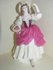 "COALPORT LADY FIGURINE RIPE CHERRIES RIPE CW152 9"" TALL LIMITED EDITION LOVELY"