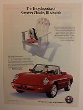 1991 Alfa Romeo Spider Veloce Ad #2 - Must See !!