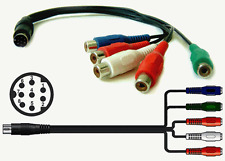 Component RGB To Mini DIN 8-pin Video + Audio Input/Output Dongle Cable