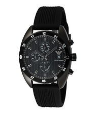 EMPORIO ARMANI AR5928 MENS SPORTIVO CHRONOGRAPH BLACK ION STAINLESS STEEL WATCH