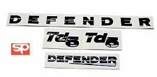 3D Lettering DEFENDER Front Bonnet, Td5, Rear  SWOOSH 90 Badges Logo BLACK KIT