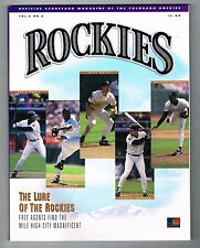 1994 Colorado Rockies MLB Baseball Magazine Volume 2 #2 Program