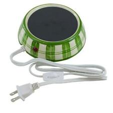 YT Electric 4-Inch Ceramic Candle Warmer - Green Plaid New