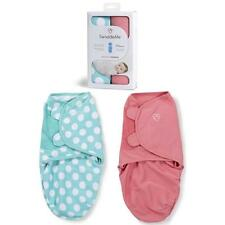 Summer Infant Swaddleme bebé Swaddle Manta 2 Pack pequeño 7-14lb Teal Dot / Rosa
