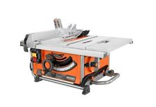 "15 Amp 10"" RIDGID Table Saw Compact Heavy-Duty Bench Blade Wheels Power Tool New"