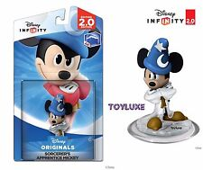 Disney INFINITY CRYSTAL Clear SORCERER'S APPRENTICE MICKEY Game Figure VARIANT