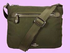 COACH 35502 Top Zip Surplus  Nylon/Leather Trim Cross-body Bag Msrp $225