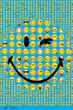 SMILEY SMILE - COLLAGE POSTER - 24x36 CUTE EMOJIS 34126