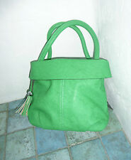 HERISSON FIRENZE GREEN HAND / SHOULDER BAG WITH DETACHABLE SHOULDER STRAP BNWT