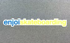 Enjoi Skateboarding Skateboard Sticker 7.7in blue/yellow si