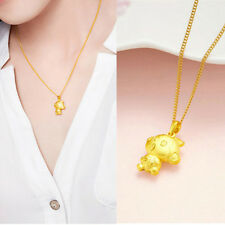 The 12 Chinese Zodiacs 3D Monkey Pendant Gold Plated Chic Necklace Jewelry