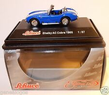 MICRO METAL DIE CAST SCHUCO HO 1/87 SHELBY AC COBRA 1965 BLEUE IN BOX