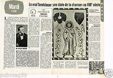 Coupure de presse Clipping 1982 (2 pages) Le Vrai Tannhauser