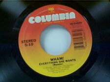"WHAM ""EVERYTHING SHE WANTS / LIKE A BABY"" 45 MINT"
