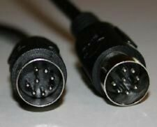 Din 8 (Large Din) 8 pin Male-Male 15 ft cable MIDI Size