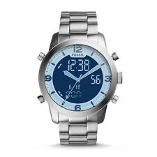 NIB Fossil FS5176  Pilot 54 Analog-Digital Stainless Steel Watch MSRP $ 155.00