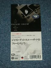 "PHOEBE SNOW Japan 1989 Tall 3"" CD Single IF I CAN JUST GET THROUGH THE NIGHT"