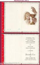 2360 SANTINO HOLY CARD RICORDO PRIMA COMUNIONE E CRESIMA FB EGLISE - D 22