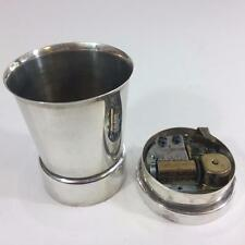 Napier Silver Baby Cup Swiss Reuge Music Box Rock A Buy Song Vtg Exc See Video