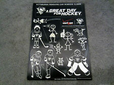 Pittsburgh Penguins 2013 Season STICK FIGURE CAR DECAL SET SGA 3-16-13 Give Away