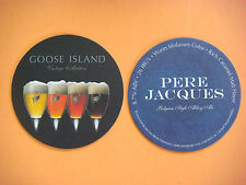 "Beer Coaster: GOOSE ISLAND ""Pere Jacques Belgian Abbey Ale"" Chicago, ILLINOIS"