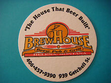Beer Coaster Bar Mat ~*~ BrewHouse Brew Pub & Grill ~**~ Helena, MONTANA Brewery