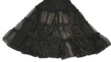 "BLACK 50's CRINOLINE POODLE SKIRT SiZe Medium Waist 30""-42"" Length 24"""
