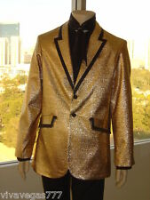 ELVIS ('68 GOLD LAME' JACKET & SCARF) Tribute Artist Costume (PRE- Jumpsuit Era)