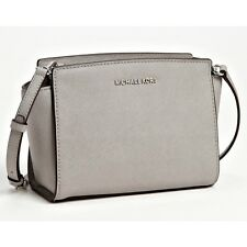 [BKPs] Michael Kors Medium Selma Saffiano Leather Messenger Bag  [Pearl Gray]
