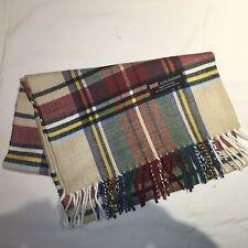100% Cashmere Winter Scarf Scarve Scotland Warm Plaid Red Green Blue Wrap Shawl