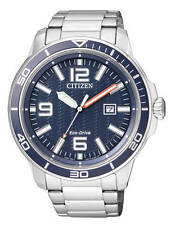 Citizen Men's Eco Drive AW1520-51L Stainless Steel Blue Dial Watch