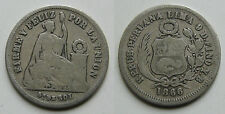 PERU . 1/5 DE SOL DE 1866 . PLATA