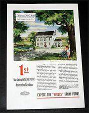 """1945 OLD WWII MAGAZINE PRINT AD, FORD, EXPECT """"FIRSTS"""", NANKIN MILLS INDUSTRIES!"""