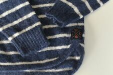Women's Superdry navy/white striped jumper size S
