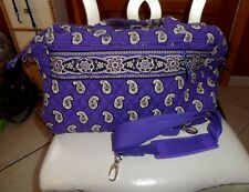 Vera Bradley weekender in retired Simply Violet pattern